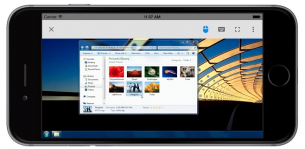 Chrome Remote Desktop from iPhone